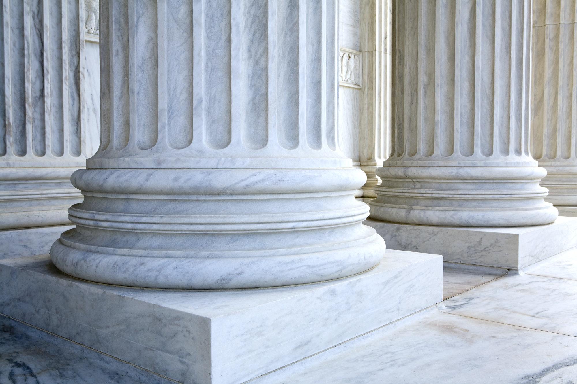 Corinthian Columns, fluted style, stonework details